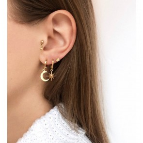 Earring Golden Moon Gold