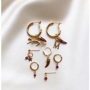 Earring Bordeau Tooth Gold