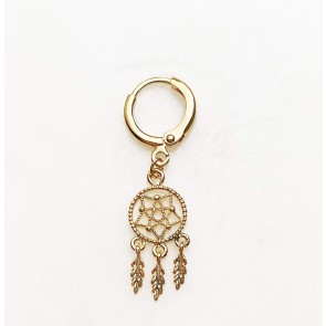 Earring Dream Catcher Gold