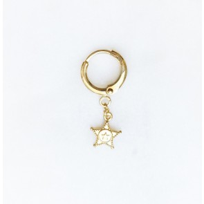 Earring Sheriff Star Gold