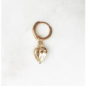 Earring Heart Gold