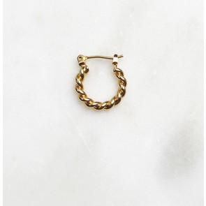 Earring 1.5 Twisted Hoop Gold