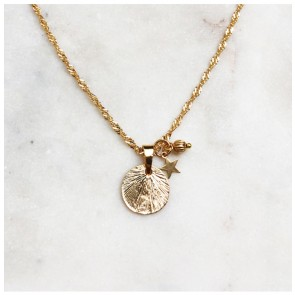 Necklace Twisted Vintage Coin Gold