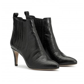 Marylebone Boot Croco Black