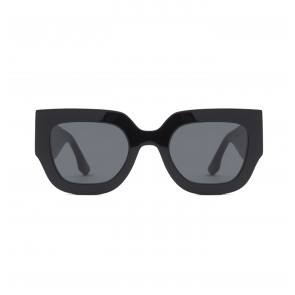 Sunglasses Wide Flat Square in Black