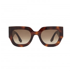 Sunglasses Wide Flat Square in Tortoise