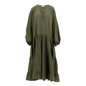 Long Wide Dress Khaki