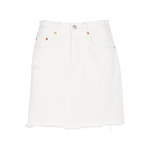 Deconstructed Iconic BF Skirt Pearly White