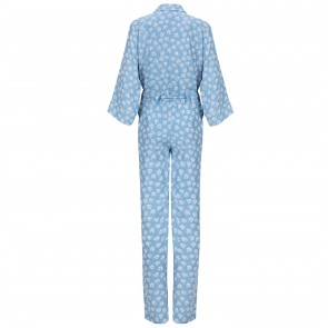 Jumpsuit Blazing Star Blue Flower