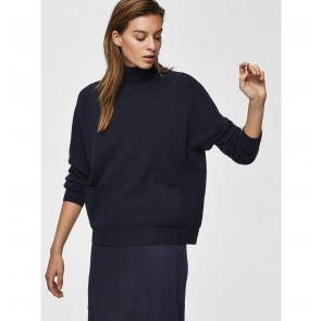 Cashmere Pocket Sweater Eya Night Sky