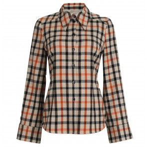 Blouse Margrethe Camel Flannel Check
