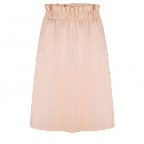 Leather Skirt Temari Ballet Pink