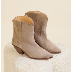 Ankle Boot Sloane Suede Taupe