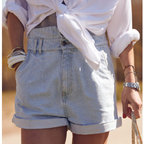 Short Rocky Shore Denim Pale