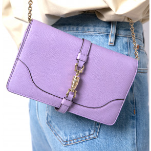 Vintage Leather Bag Lilac