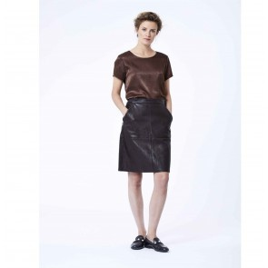 Leather Skirt Aukje Black
