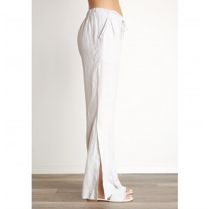 Pants Slit Leg Marble Grey