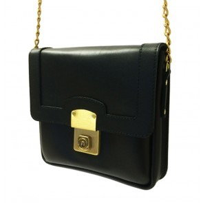 Big Lock Square Bag Black