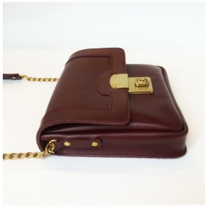 Big Lock square bag burgundy