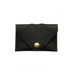 Heart Card Case Black