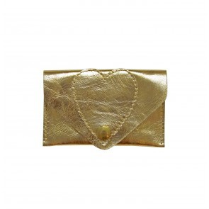 Heart Card Case Gold