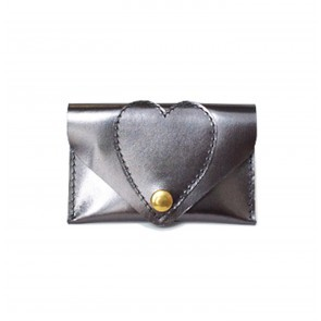 Heart Card Case Metallic