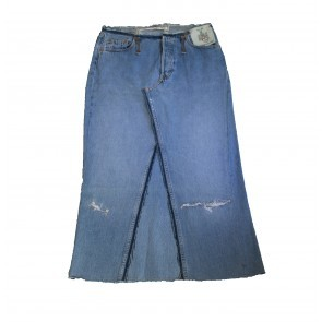 V11 Vintage Levi's Denim Maxi Skirt Closed