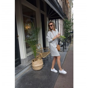 Sweat Dress Alexandra Light Grey Melange
