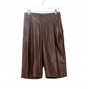 Vintage Leather Culotte Dark Brown