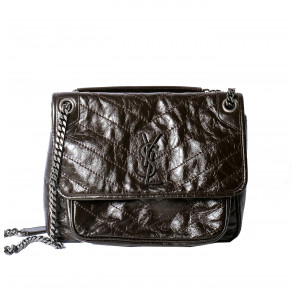Vintage Leather Bag Dark Brown
