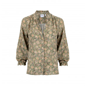 Blouse Out of Office Olive Shell