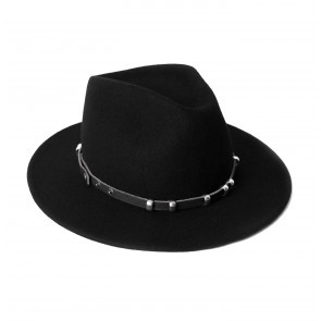 Fedora Hat Black Pearl + Strap The Belt Black