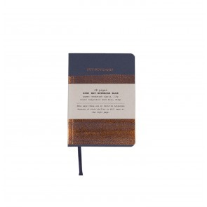 Hot copper notebook A6 blue
