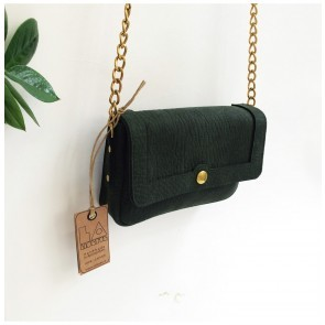 Basic Leather Purse Forest Green