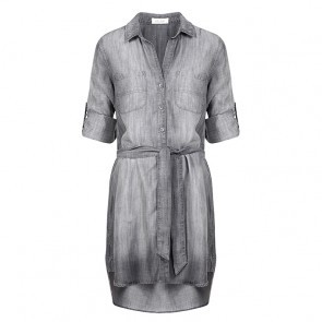 Shirt Tail Dress Grey Arctic Wash