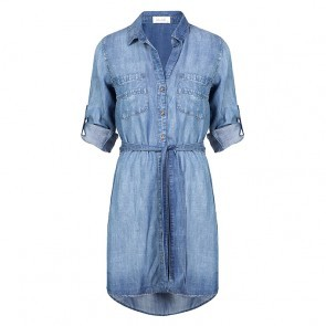 Shirt Tail Dress Evening Mist Wash