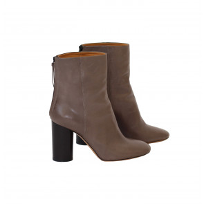 Vintage Leather Boot Grey