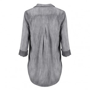 Shirt Tail Button Down Grey Arctic Wash
