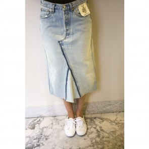 V6 Vintage Levi's Denim Midi Skirt Closed