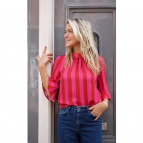 Blouse Eva Stripes Raspberry