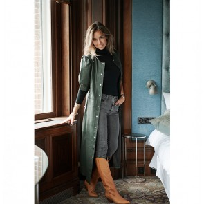 Leather Dress Suri Dark Green