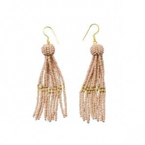 Tassel Earrings Soft Pink