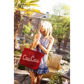 Beach Bag Jute Coucou Red