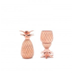 Pineapple Shot Glasses Copper (set of 2)