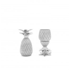 Pineapple Shot Glasses Silver (set of 2)