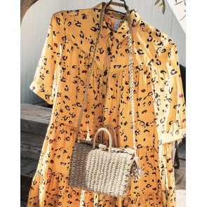 Blouse Dress Leopard Amber Gold