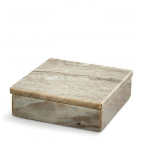 Brown marble box small