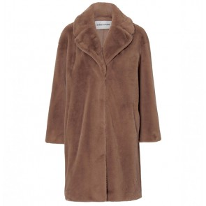 Coat Camille Soft Teddy Taupe