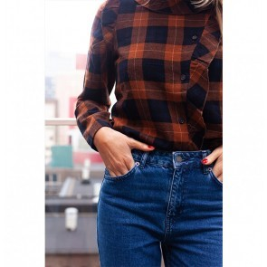 Frilled Top Tokyo Toffee Check