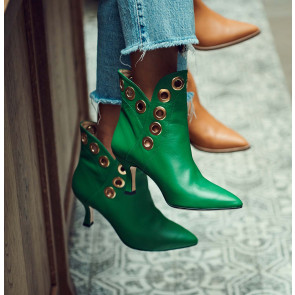 Boot Upper East Green